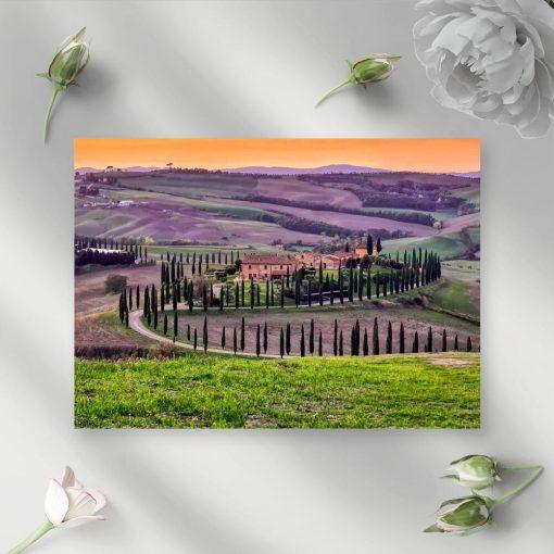 Obraz droga w Toskanii