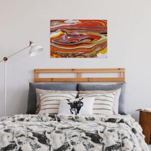 Abstrakcyjny obraz w ciepłym kolorze