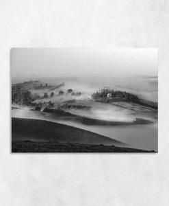 Czarno-biały obraz do salonu - Lato w górach