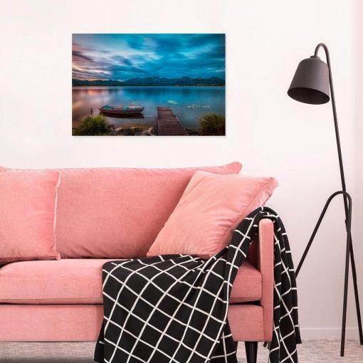Obraz z łódką na jeziorze w Niemczech