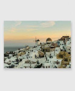 Obraz z grecką wyspą Santorini na prezent