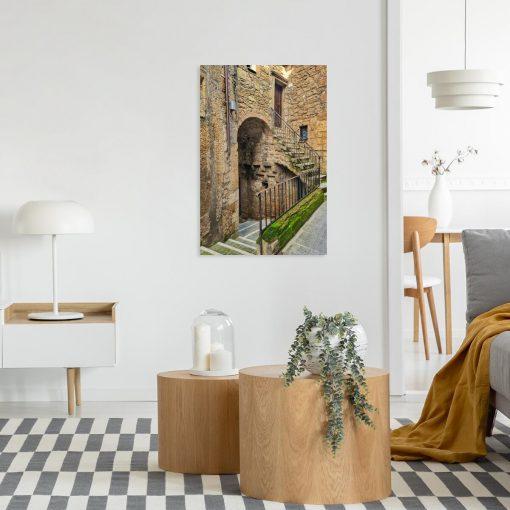 Obraz średniowieczne domy na włoskiej prowincji
