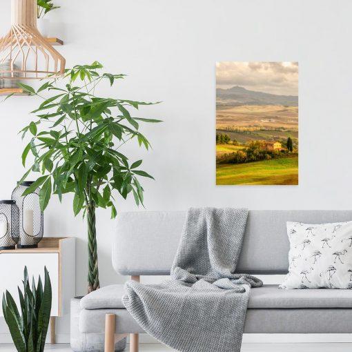 Obraz widok na toskańskie pola do ozdoby gabinetu