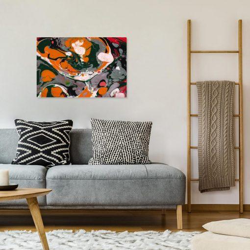 Obraz do salonu z abstrakcyjnymi formami