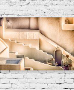 Obraz z budowlą na greckiej wyspie - Santorini do sypialni