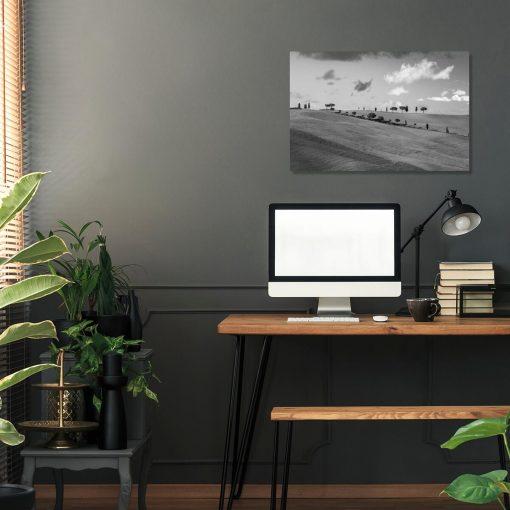 Obraz z panoramą Toskanii do ozdoby biura