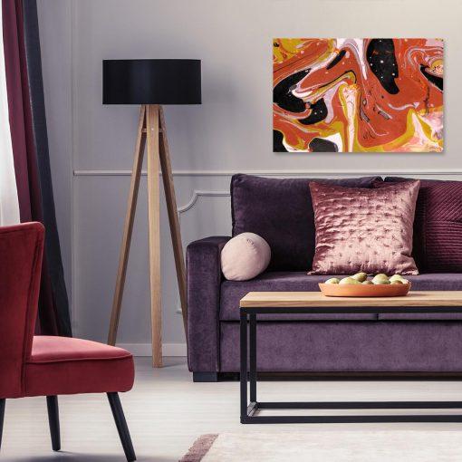 Obraz przedstawiający abstrakcję do dekoracji sypialni