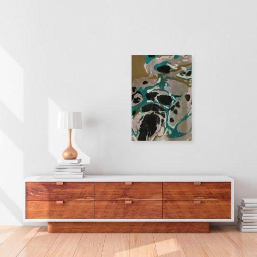 Nowoczesny obraz do salonu z abstrakcją