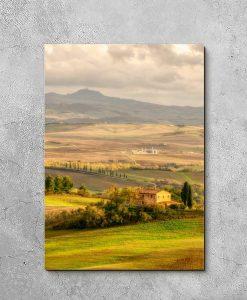 Obraz pola w Toskanii do ozdoby biura