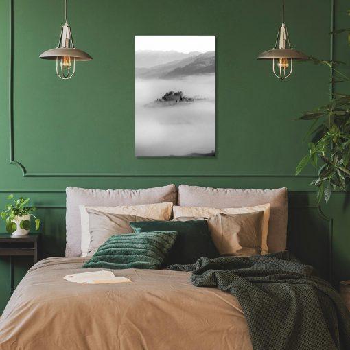 Obraz z szarym wzgórzem do salonu