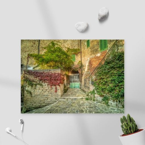 Obraz kamienna uliczka w Sorano