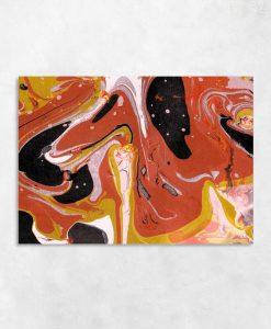 Pomarańczowa abstrakcja na obrazie