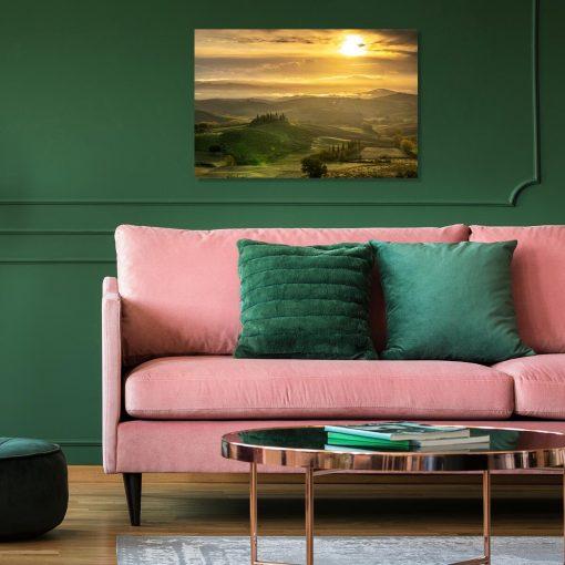 Obraz z malowniczym zachodem słońca