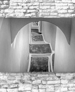 Obraz z motywem schodów do dekoracji salonu