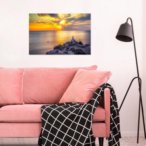 Obraz - Wyspa Santorini i morze do sypialni