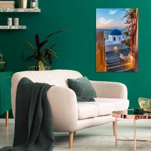 Obraz z barwnym widokiem na Santorini do salonu