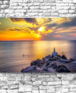 Obraz - Wyspa Santorini i morze do dekoracji salonu