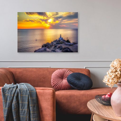 Obraz - Wyspa Santorini i morze do dekoracji pokoju