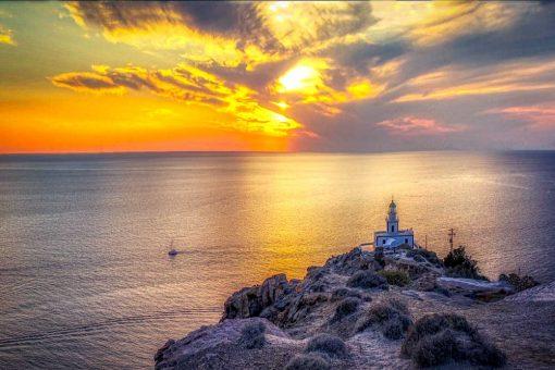 Obraz - Wyspa Santorini i morze do biura podróży