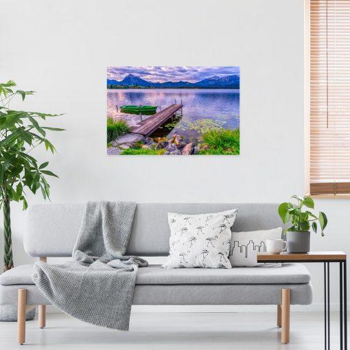 Obraz z motywem fioletowego widoku na jezioro