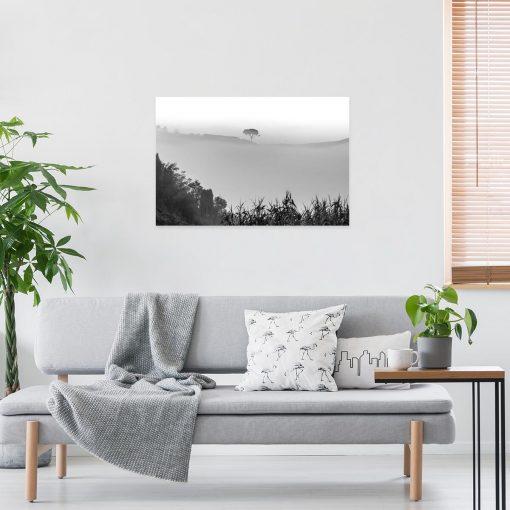 Obraz pejzaż z drzewem na ścianę do sypialni