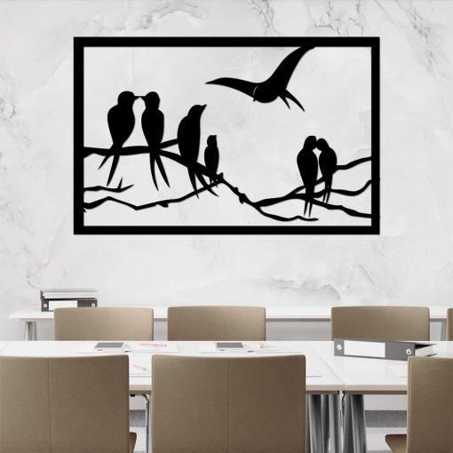 Trójwymiarowa ozdoba z zakochanymi ptaszkami