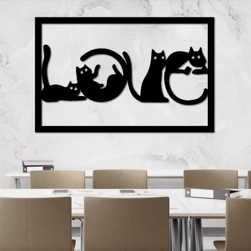 Obraz 3d z kotami
