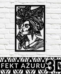 Dekor 3d z motywem Afrykanki na ścianę