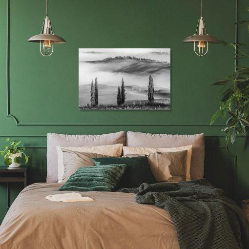 Obraz z motywem mgły do sypialni