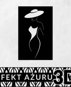 Dekoracyjny panel 3d ścienny z kobiecą postacią