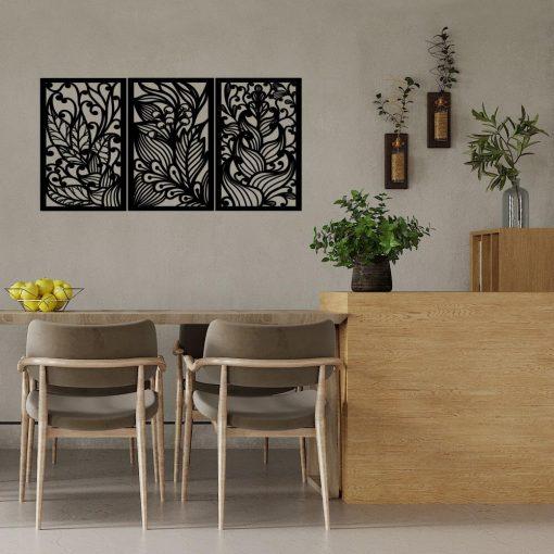 Dekoracja 3d z ornamentami roślinnymi