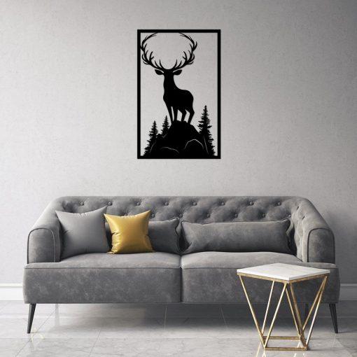 Przestrzenna dekoracja ścienna z jeleniem