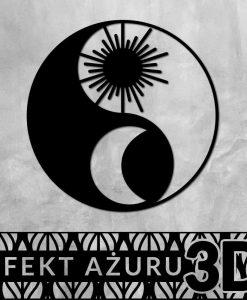 Trójwymiarowa dekoracja z Yin i Yang