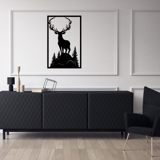 Jeleń na górze - dekoracja 3d