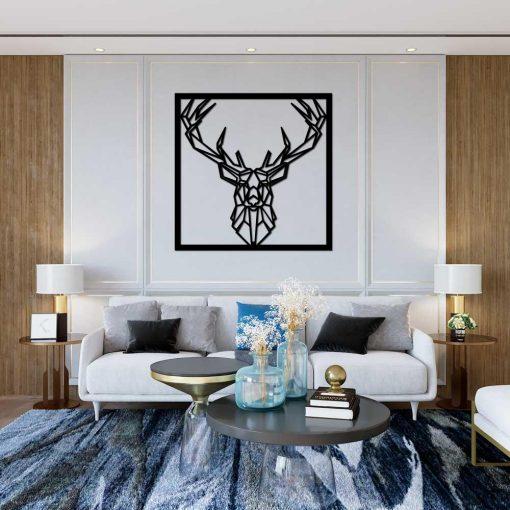 Trójwymiarowy jeleń - ażur dekoracyjny