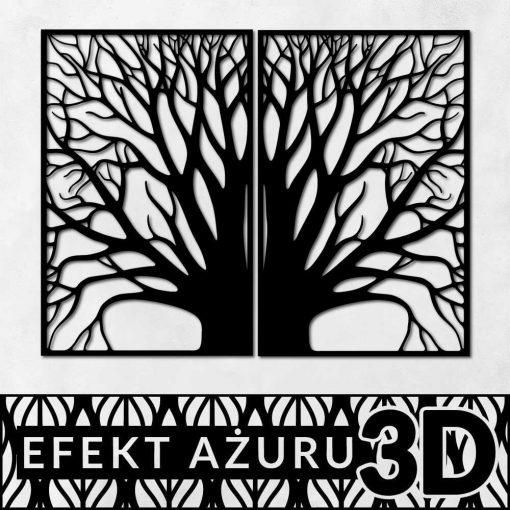 Motyw drzewa - zestaw dwóch posterów
