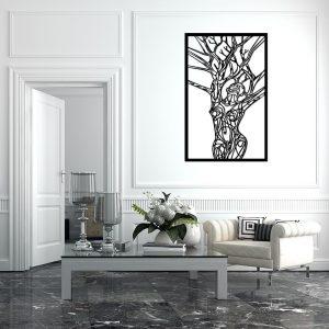 Obraz ażurowy z drzewami